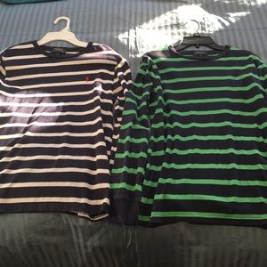 Two boys Polo long sleeve shirts L